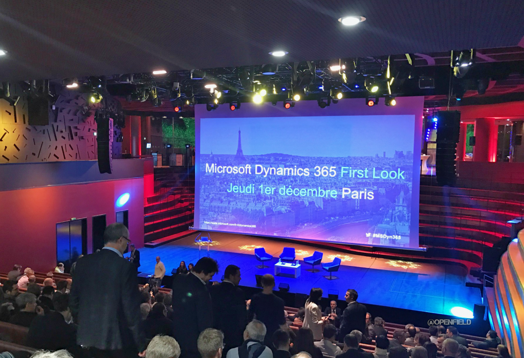 Openfield au lancement de Microsoft Dynamics 365