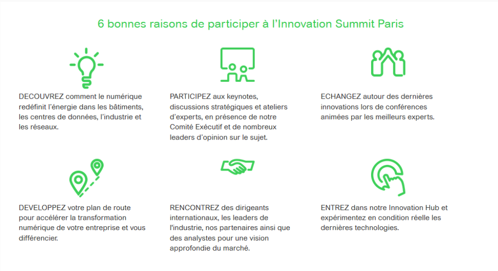 six bonnes raisons d'aller à l'Innovation Summit de Schneider Electric - Openfield