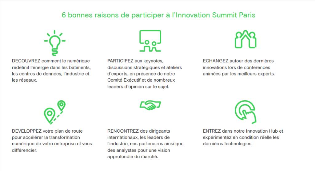 six bonnes raisons d'aller à l'Innovation Summit de Schneider Electric - Openfield